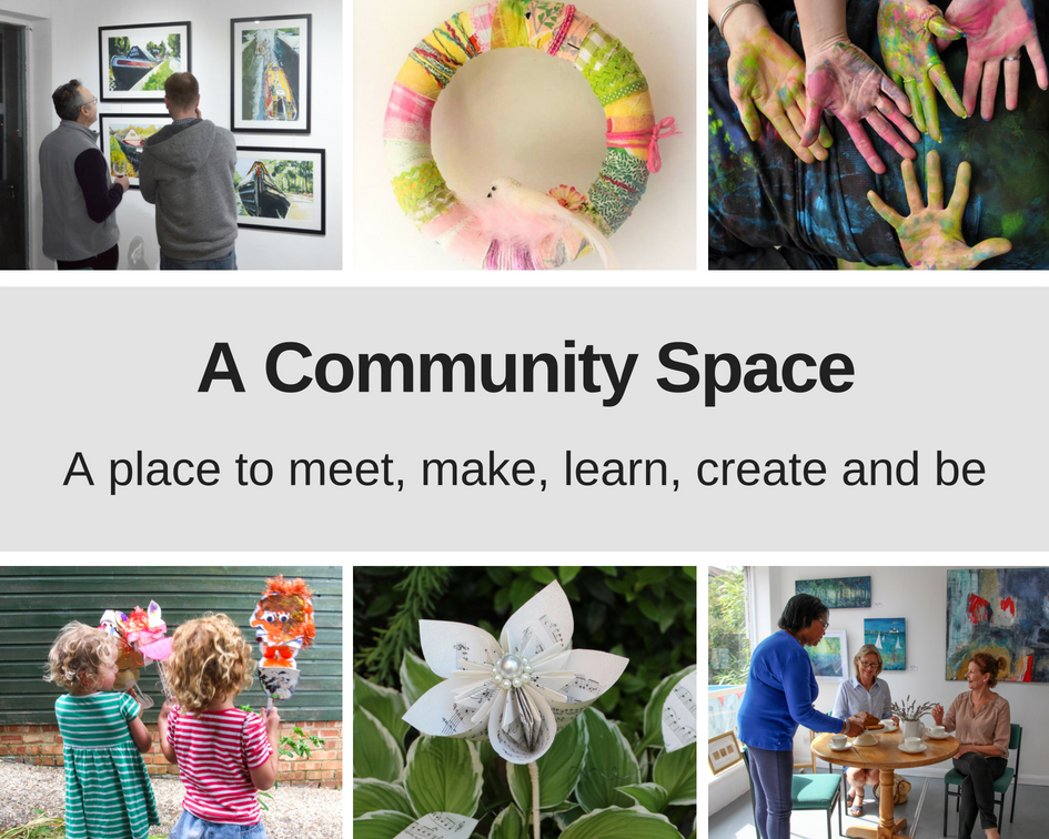 A Community Space. A place to meet, make, learn, create and be.